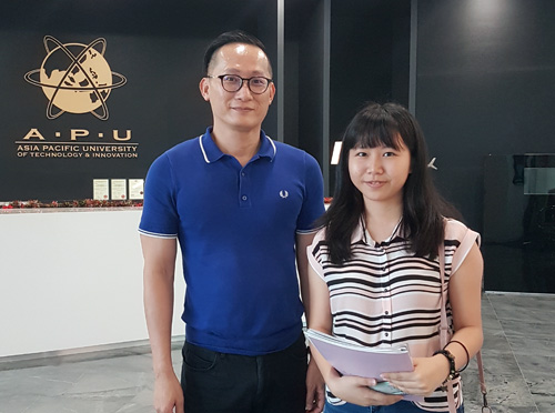 I wasn't sure of what to study & my mother found EduSpiral to talk to me. He helped me to choose a course that suited me & had good job prospects. Min Yi, Human Resource Management at Asia Pacific University (APU)